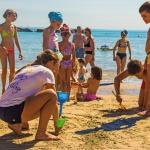 Animazione in spiaggia per i bambini